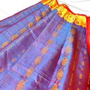 Pure Kancheepuram Silk Saree (Twin shade)